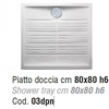 Sanitario Piatto Doccia 'Ceramiche-Stile' (Serie Click)