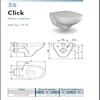 Scheda Sanitario Vaso Sospseso 'Ceramiche-Stile' (Serie Click)