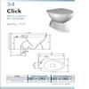 Scheda Sanitario Vaso Terra 'Ceramiche-Stile' (Serie Click)